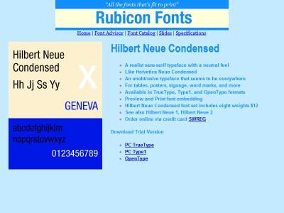 Hilbert Neue Condensed Font TT 2.00 screenshot