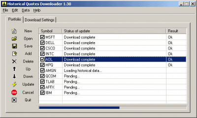 Historical Quotes Downloader 2.31.8 screenshot