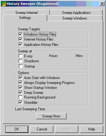 History Sweeper 3.03 screenshot