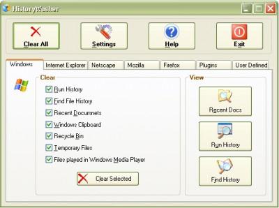 HistoryWasher 1.04 screenshot