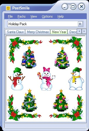 Holiday Smiley Collection for PostSmile 1.0 screenshot