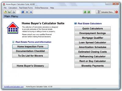 Home Buyers Calculator Suite 4.1 screenshot