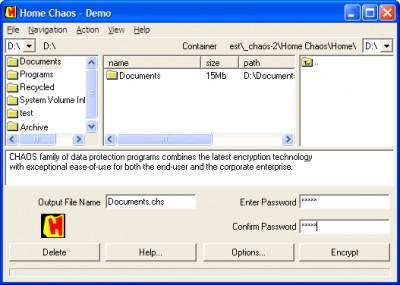 Home CHAOS 3.5 screenshot