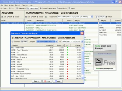 Home Credit Card Manager (Linux) 3.0.120602 screenshot
