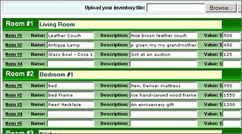 Home Insurance Inventory Wizard 2.3 screenshot