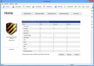 HomeGuard Activity Monitor 64 bit 8.6.1 screenshot