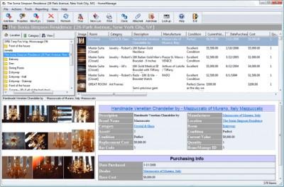 HomeManage Home Inventory Software 2015 screenshot
