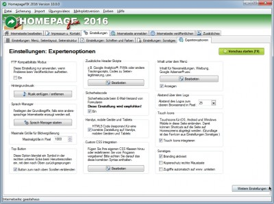 HomepageFIX 2016 10.0.3 screenshot