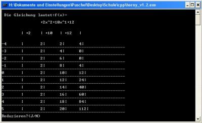 Horny - Das Programm zum Horner Schema 1.2 screenshot