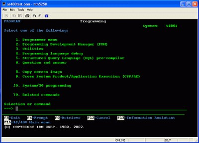 Hosaka TN5250 1.4 screenshot