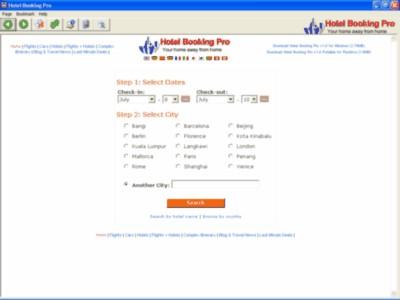 Hotel Booking Pro 1.0 screenshot