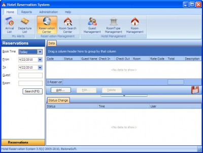 Hotel Reservation System 5.0 screenshot