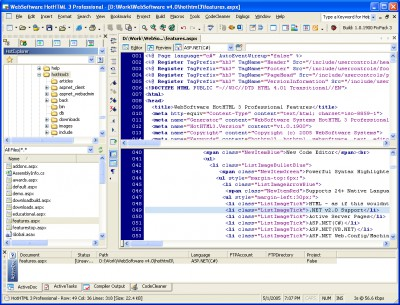 HotHTML 3 Professional 1.6.3389 screenshot