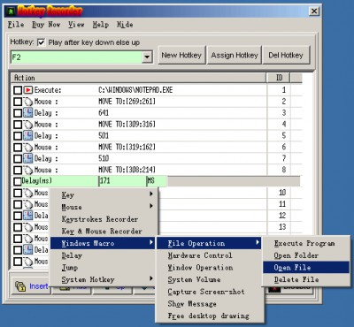 Hotkey Recorder 5.1733 screenshot