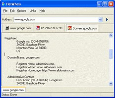 HotWhoIs 3.0 screenshot