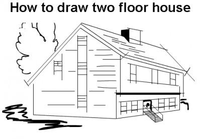 How to draw a house B 12.21 screenshot