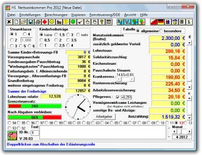 HS Nettoeinkommen Pro 2014 22.01 screenshot
