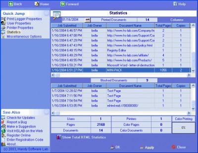 HSLAB Print Logger 4 SE 4.3.104.4 screenshot