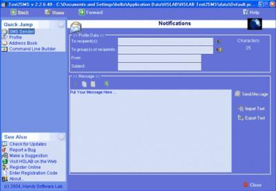 HSLAB Text2SMS 2.2.10.4 screenshot