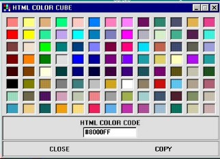 Html Color Cube 1.0 screenshot