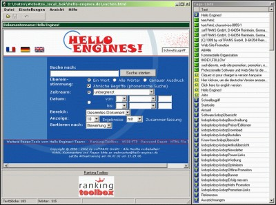 HTML File Translator 1.2 screenshot