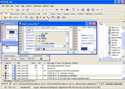 HTML-Kit Build 292 screenshot