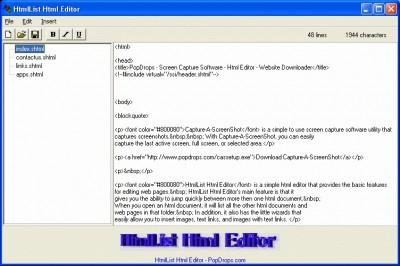 HtmlList Html Editor 1.12 screenshot