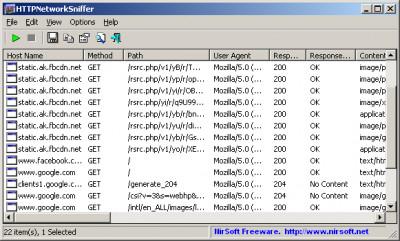 HTTPNetworkSniffer 1.63 screenshot