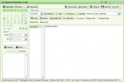 HyperCalendar 3.06 screenshot