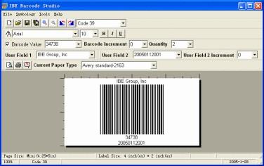 IBE Barcode Studio 1.02 screenshot