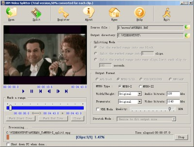IBN Video Splitter 2.2.1 screenshot