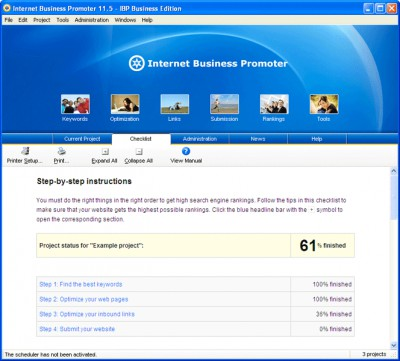 iBusinessPromoter (IBP) 11.7.4 screenshot