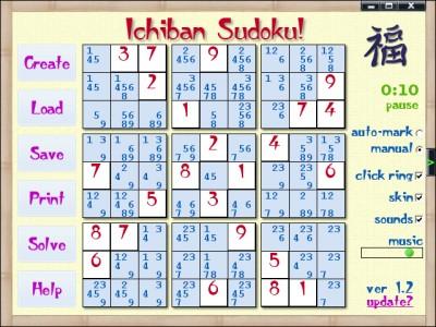 Ichiban Sudoku 1.9 screenshot