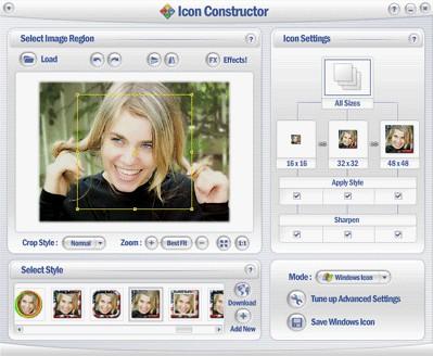 Icon Constructor - advanced icon creator 3.54 screenshot