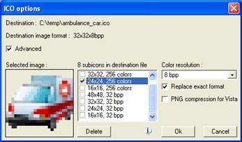 Icon Plugin for PhotoShop 2.1 screenshot
