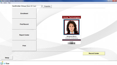 ID Flow Free ID Card Software 8.0 screenshot
