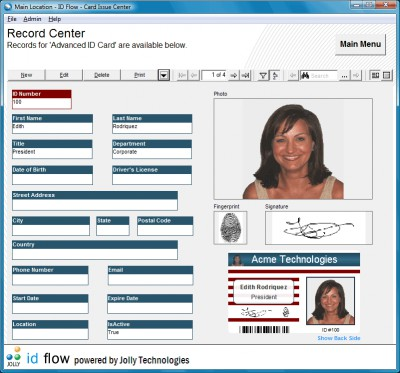 ID Flow Photo ID Card Software 6.0 screenshot