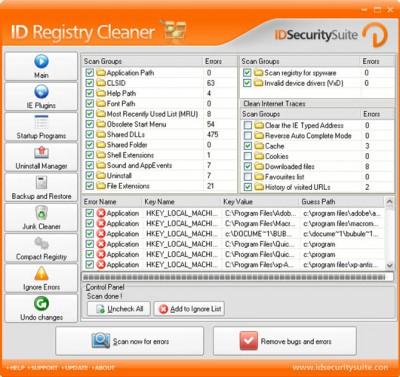 ID Registry Cleaner 1.2 screenshot