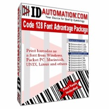 IDAutomation Code 128 Font Advantage 5.1B screenshot