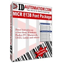IDAutomation MICR Font Advantage 4.9 screenshot