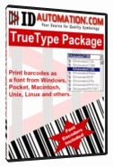 IDAutomation TrueType Barcode Font Advantage 6.11 screenshot