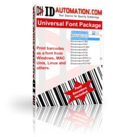IDAutomation Universal 2D Barcode Font 11.09 screenshot