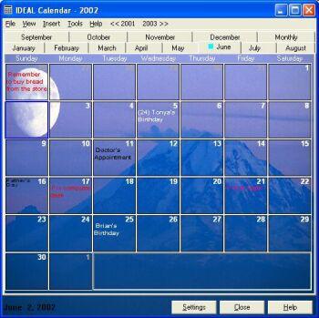 IDEAL Calendar 4.7 screenshot