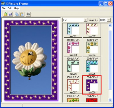 IE Picture Framer 1.02 screenshot