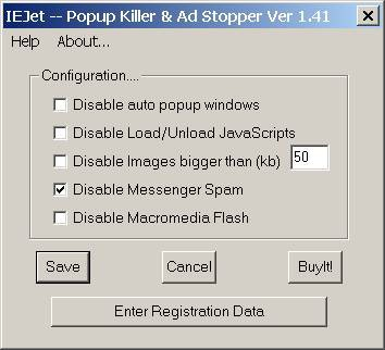 IEJet-Popup Killer and Ad Stopper 1.41 screenshot