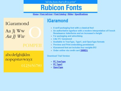 IGaramond Font TT 2.00 screenshot