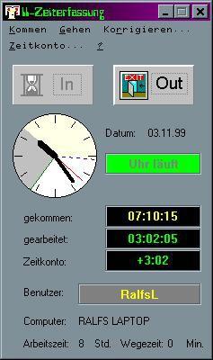 II_ Zeiterfassung 2.0 screenshot