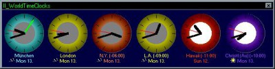 II_WorldTimeClocks 1.5 screenshot