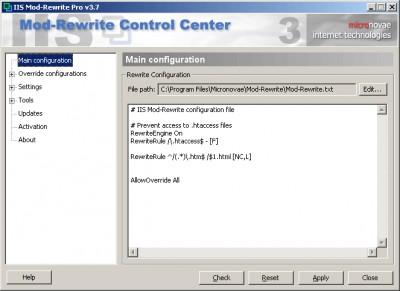 IIS Mod-Rewrite Pro 4.0 screenshot