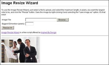 Image Resize Wizard 1.5 screenshot
